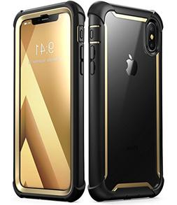 IPhone X Case Full Protect Rugged Clear Cover Built-in Scree