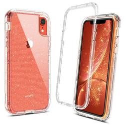 For Apple iPhone XR Case Glitter Clear Protective Shockproof