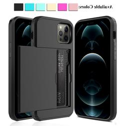 For iPhone 12 Pro Max mini 11 XS Shockproof Case With Wallet
