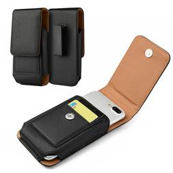 Belt Clip Holster Pouch Heavy Duty Leather Case for iPhones,