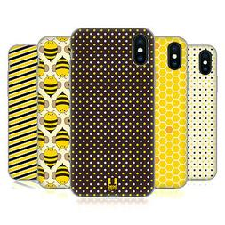 HEAD CASE DESIGNS BUSY BEE PATTERNS SOFT GEL CASE FOR APPLE