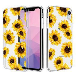 Caka Clear Case Compatible for iPhone XR Floral Flower Patte