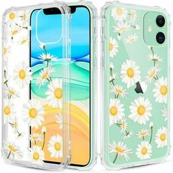 Caka iPhone 11 Case Clear with Design, iPhone 11 Case Daisy