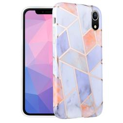 Caka Marble Case Compatible for iPhone XR, Girly Slim Anti-S