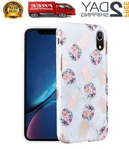 Caka Marble Case Compatible for iPhone XR, Girly Slim Anti S
