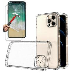 Case + 2 Screen Protector iPhone 11 Pro Max XR 6 7 8 Plus XS