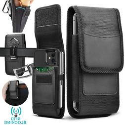 Cell Phone Holster Pouch Nylon Wallet Case with Belt Clip fo