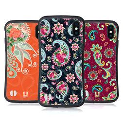 HEAD CASE DESIGNS CHIC PAISLEY HYBRID CASE FOR APPLE iPHONES