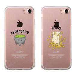 365 Printing Chips & Guacamole Matching Phone Cases Transpar