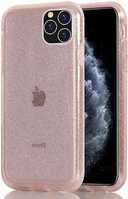 Clear Glitter Case for iPhone 11 Pro Max Hybrid Heavy Duty P
