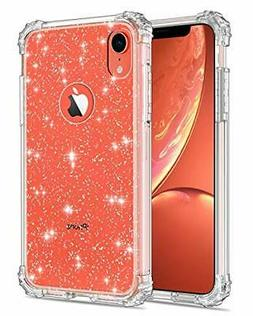 LONTECT Compatible iPhone Xr Case Glitter Crystal Clear
