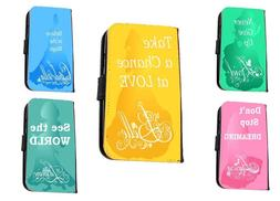 Disney Princess Quotes Ariel Belle Inspired leather phone ca