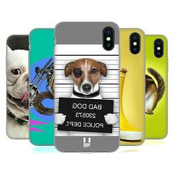 HEAD CASE DESIGNS FUNNY ANIMALS SOFT GEL CASE FOR APPLE iPHO