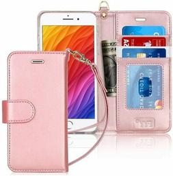 FYY Case for iPhone 8 Plus/iPhone 7 Plus, Luxury PU Leather