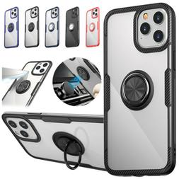 Hybrid Clear Magnetic Ring Stand Case For iPhone 11 12 Pro M