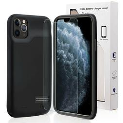 For iPhone 11 Battery Case 6000mAh Rechargeable Charger Port