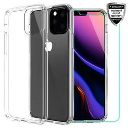 For iPhone 11 Pro Max 2019 Shockproof Clear Case Cover & Gla