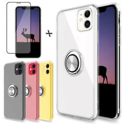 For iPhone 11/11 Pro Max Case Clear Ultra Slim Thin Ring Hol