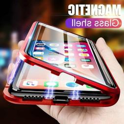 For iPhone 11 Pro Max Case Cover Magnetic Adsorption Tempere