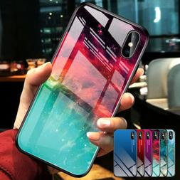 For iPhone 11 Pro Max XS Max XR Tempered Glass Hard Case Rub
