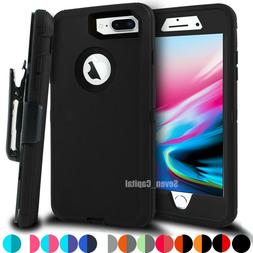 For iPhone 6 7 8 Plus Shockproof Rugged Case with Belt Clip