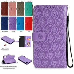 For iPhone 8 Plus 7 8 Luxury Magnetic Flip Leather Strap Wal