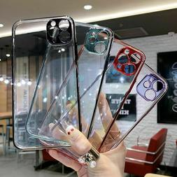 For iPhone SE 2020 XR 8 7 Plus X Clear Soft Slim Fit Protect