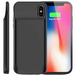 For iPhone X Battery Case 6000mAh Rechargeable Charger Porta