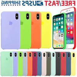 For Apple iPhone X XR XS Max 7 8Plus Original Silicone Genui