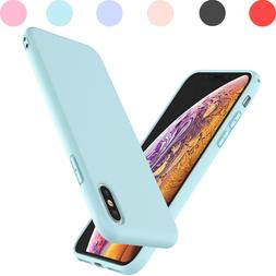 For iPhone X/XR/Xs Max Liquid Silicone Case And Tempered Gla