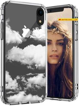 Mosnovo Iphone Xr Case, Cloud Pattern Printed Clear Design T