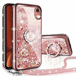 iPhone XR Case, Silverback Moving Liquid Holographic Sparkle