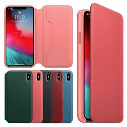 Apple iPhone XS & XS Max Case 🍎 New Leather Protective Sm