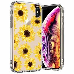 MOSNOVO iPhone Xs Max Case, Clear iPhone Xs Max Case, Floral
