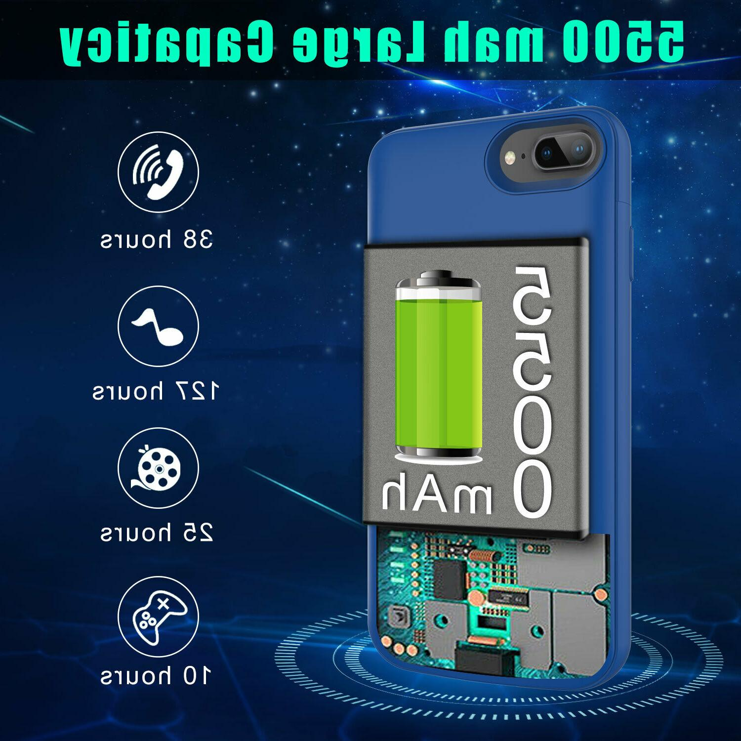 For Apple 7/7 Plus/8/8 Plus Battery Power Bank Charging Case Cover