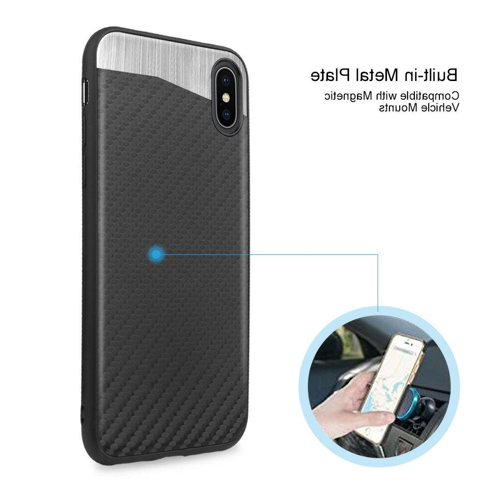 For Apple iPhone XS Max XR X Magnetic Backplate Cover Tempered Glass