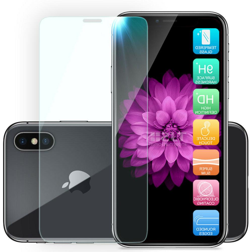 For Apple iPhone Max XR X Magnetic Tempered Glass