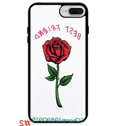 Best Rose Couple Rubber Case For iPhone 8 XS Max&Samsung