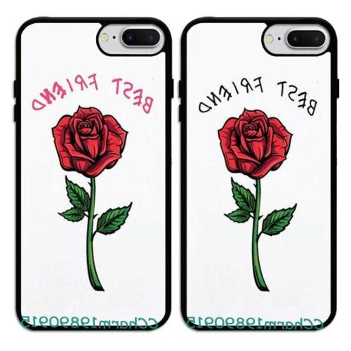 best friend rose bff couple rubber phone