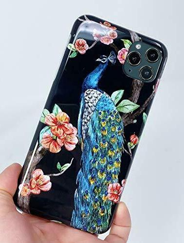 Blingy's iPhone 11 Case, Peacock