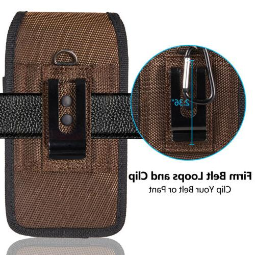 Cell Pouch Nylon Holster Case with Belt Clip iPhone