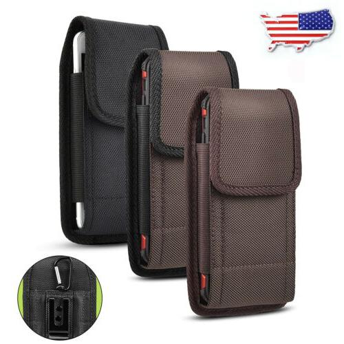 cell phone vertical nylon carrying belt clip