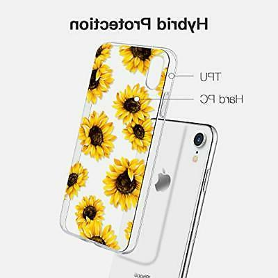Caka Compatible for iPhone Clear Floral Flower