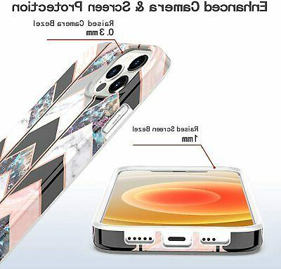Compatible iPhone Pro Rose Gold Wave Marble