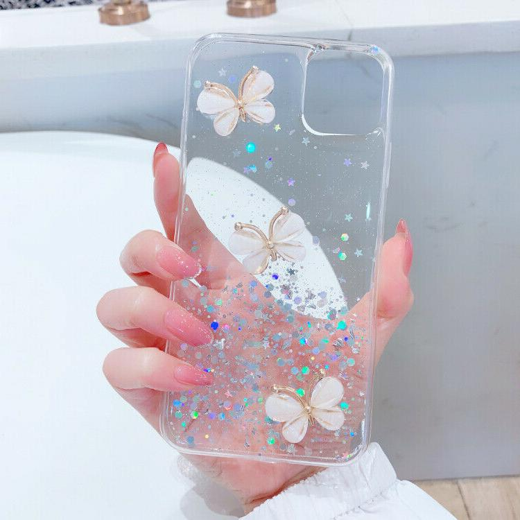 Glitter Sparkle Butterfly Case Cover iPhone 11 Pro XR XS 7 SE