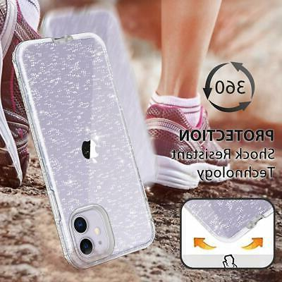 Heavy Case For iPhone Crystal Bling Silver