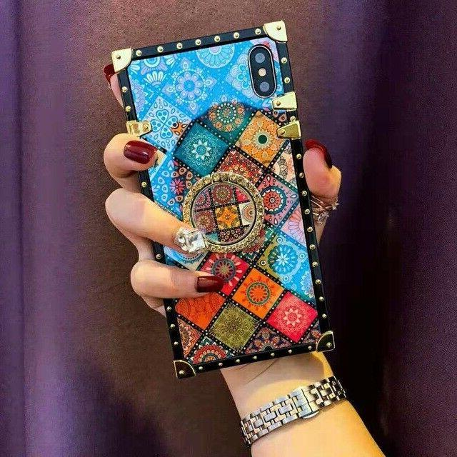 High Quality Bohemian Lanyard Ring Phone Case For iPhone Sam