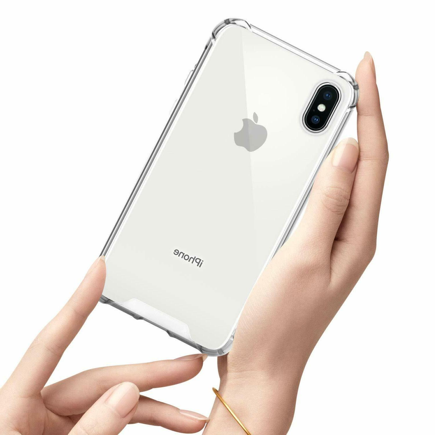 iPhone 11 Pro 6s 7 8 X XS MAX Hybrid Shockproof Clear TPU