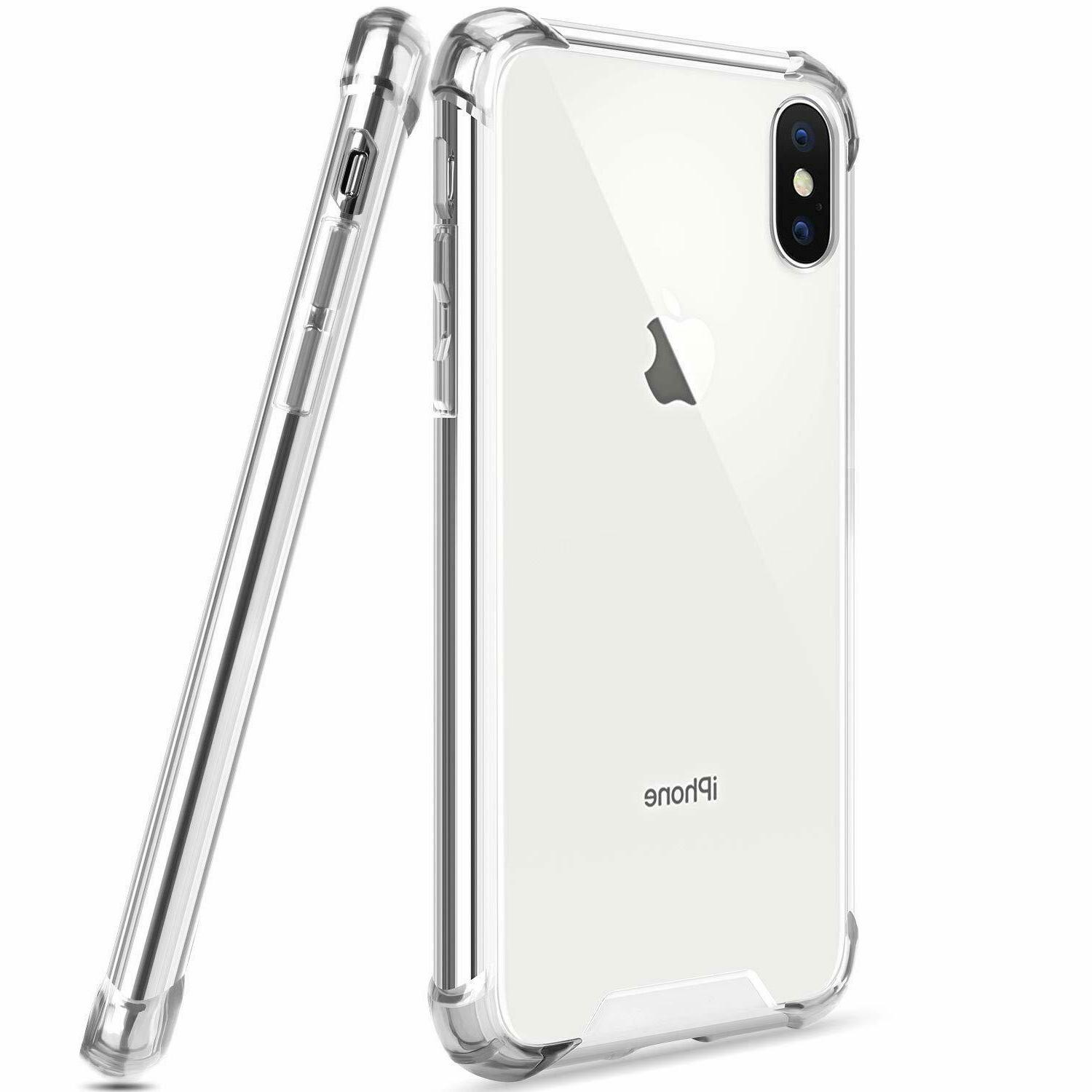 iPhone 6s 7 X XR XS Hybrid Shockproof Thin Clear TPU Case