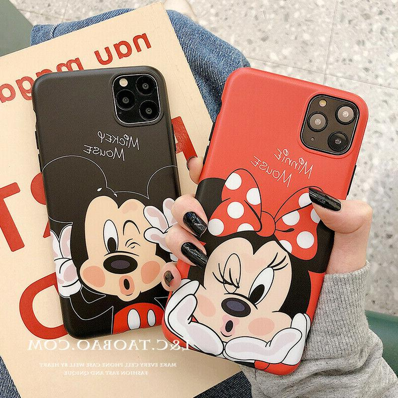 DISNEY COLLECTION iPhone 11 pro Case Cartoon Minnie & Mickey PACS NEW